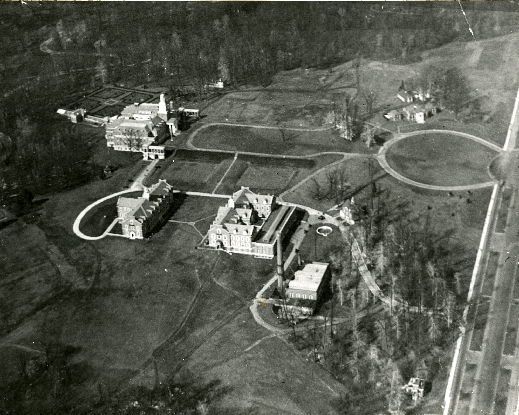 Aerial view of Homewood campus