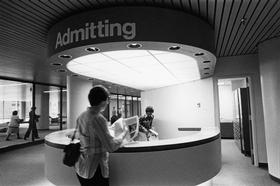 Admitting desk at Johns Hopkins Hospital