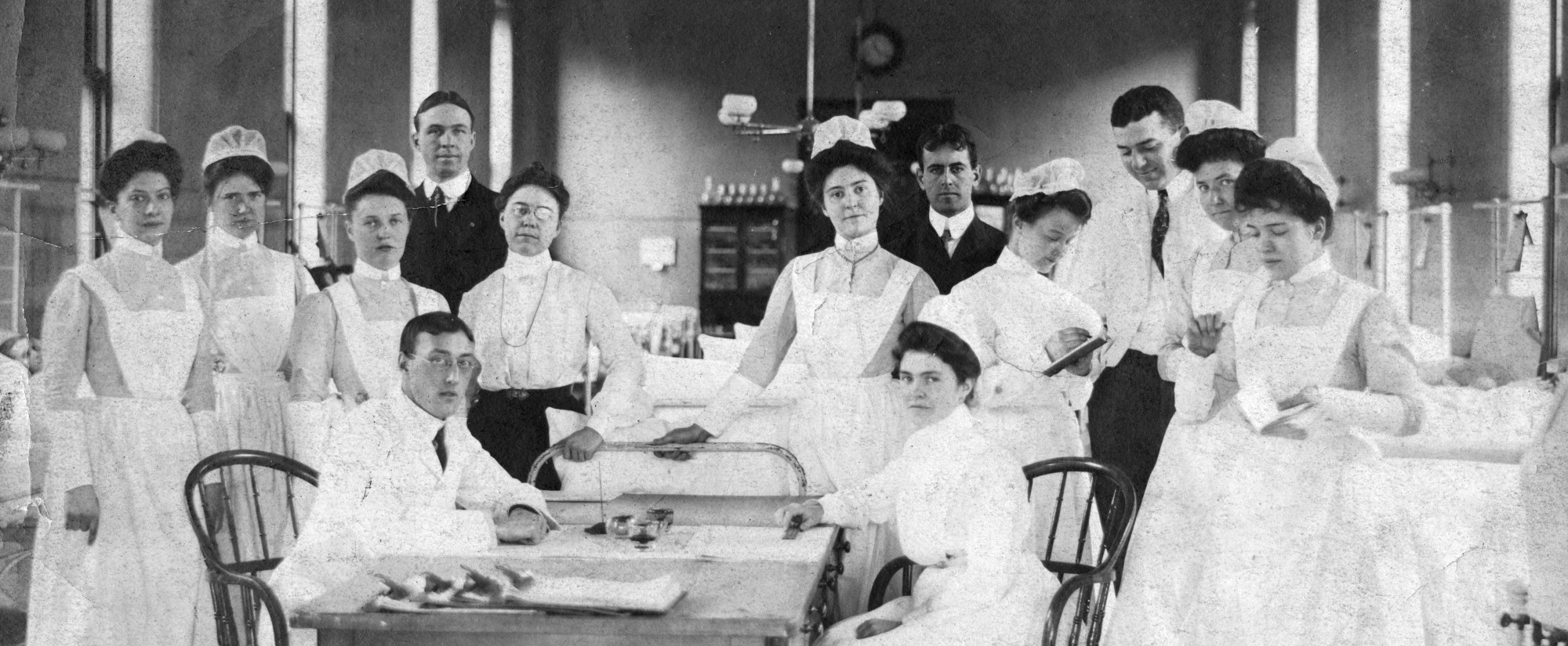 Johns Hopkins Hospital staff in Women's Ward G